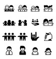 friend friendship icons vector image