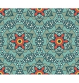 geometric mosaic vintage ethnic seamless pattern vector image