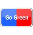 go green words on web button icon isolated vector image