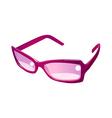 icon sunglasses vector image