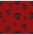 Red Skull Pattern Small vector image