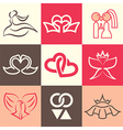 wedding logo icons vector image