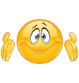 dont know emoticon vector image