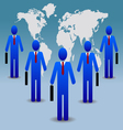 Business people world vector image vector image