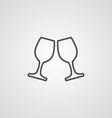 wineglasses outline symbol dark on white vector image