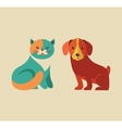 Collection of cat and dog icons and vector image