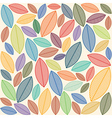 A seamless pattern with leaves - vector image