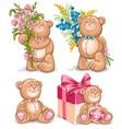 Bears set vector image