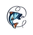 black fish vector image