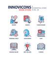 book store - modern color single line icon vector image