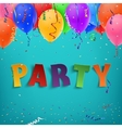 Colorful handmade typface party vector image
