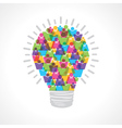 Creative light-bulb of colorful male and female vector image