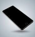 Jet black smartphone mockups like iphon vector image