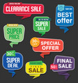 modern origami sale stickers and tags colorful vector image