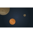 Outer space planet with stars landscape vector image