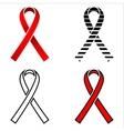 Ribbon AIDS ribbon red ribbon AIDS aquired vector image