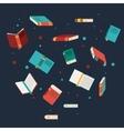 books read library design vector image