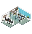 Isometric Interior Office Workplace vector image