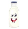 Cartoon Milk Bottle vector image vector image