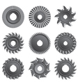Milling cutters for metal vector image vector image