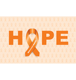 Multiple sclerosis ribbon vector image