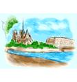 Notre Dame de Pari vector image