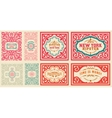 Retro cards set with Floral Details vector image