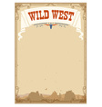 Wild west background for text vector image vector image