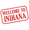 Indiana - welcome red vintage isolated label vector image