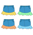 Denim Skirts Set vector image vector image