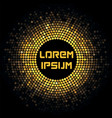 Abstract futuristic background with golden mosaic vector image