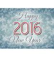 Happy 2016 New Year illistration vector image