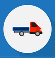 of automobile symbol on truck vector image