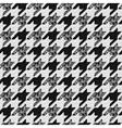 Seamless classic fabric houndstooth pied-de-poule vector image