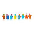 Thursday Colorful Title - Paper Cut People and vector image