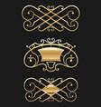 vintage gold vignette set vector image