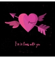 I Am In Love With You Cupid Arrow Through Heart vector image
