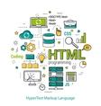 HTML line art concept vector image vector image