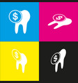 the cost of tooth treatment sign  white vector image