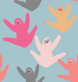 Cute pattern with sloths vector image