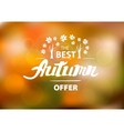 The best autumn offer - hand drawn lettering vector image vector image