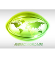 world abstract circle on white green vector image vector image
