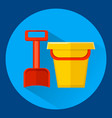 baby bucket and shovel vector image