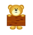 Bear with board vector image