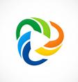 circular color social media logo vector image