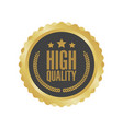 guaranteed premium quality gold sign round label vector image