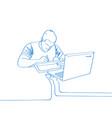 hand drawn man draw on vector image