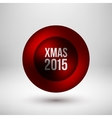 Red Xmas Bubble Badge vector image