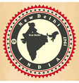 Vintage label-sticker cards of India vector image