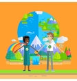 Earth Day Celebrating Concept vector image